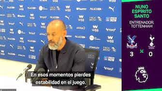 """Imagen de vista previa para Nuno, sin excusas tras la dura derrota ante el Palace: """"Solo me quiero centrar en lo que ha sucedido hoy"""""""