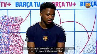 Vorschaubild für Ansu Fati: 'I want to get back to enjoying playing football'