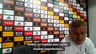"""Image d'aperçu pour 38e j. - Solskjaer : """"La prochaine étape pour cette équipe est de gagner des trophées"""""""