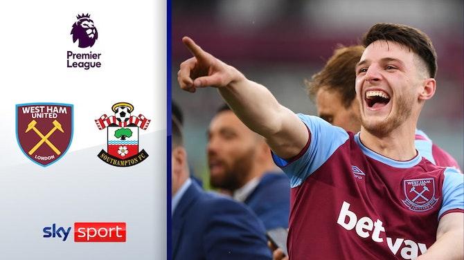Hammers erreichen Europa League | Highlights: West Ham - FC Southampton 3:0