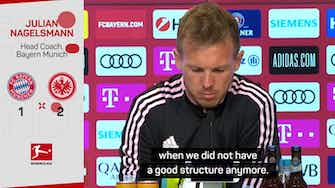 Preview image for Nagelsmann concedes Bayern failings in shock Frankfurt defeat