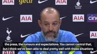 Preview image for Nuno praises Tottenham squad in dealing with Kane speculation