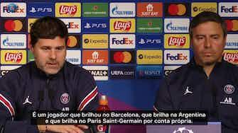 Imagem de visualização para Pochettino diz que Messi está 'totalmente adaptado' ao Paris Saint-Germain
