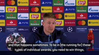 Preview image for De Bruyne not worried about Ballon d'Or prospects ahead of final