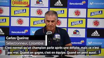 """Image d'aperçu pour Élim. Coupe du monde 2022 - Queiroz répond à James : """"Que les joueurs restent calmes"""""""