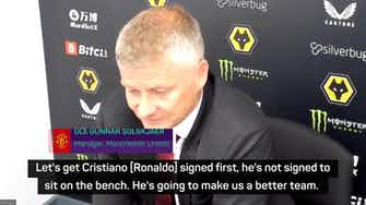 Preview image for Ronaldo did not sign to sit on the bench! - Solskjaer
