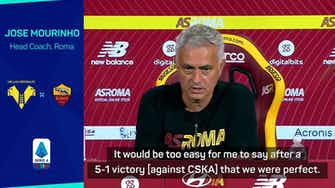 Preview image for Mourinho expecting more from near 'perfect' Roma
