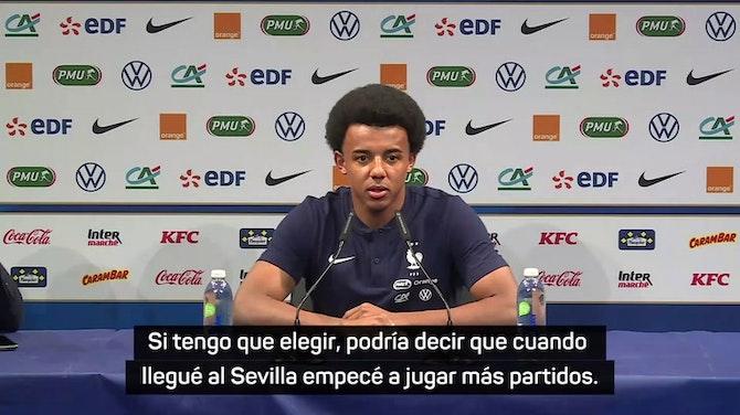 """Imagen de vista previa para Koundé: """"El Sevilla me ha ayudado mucho para llegar a la selección"""""""