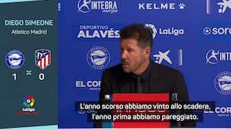 """Anteprima immagine per Atletico, disastro con l'Alaves. Simeone: """"La nostra bestia nera"""""""