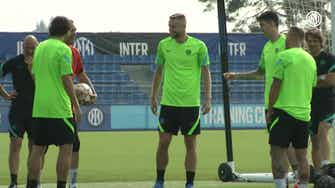 Preview image for Inter's last training ahead of Real Madrid clash
