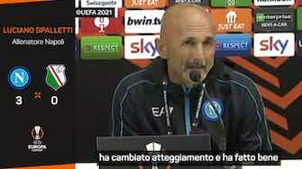 """Anteprima immagine per Dopo il Legia Spalletti è raggiante: """"Gara quasi perfetta grazie ai cambi"""""""