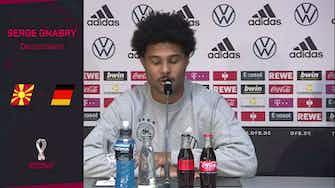 """Vorschaubild für Gnabry über Werner: """"Stehen hinter Timo"""""""