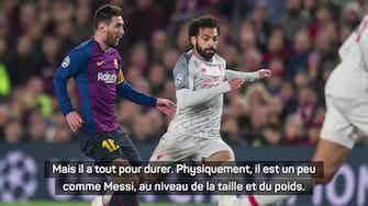 """Image d'aperçu pour Liverpool - Klopp : """"Comme Messi, Salah a tout pour durer encore longtemps"""""""