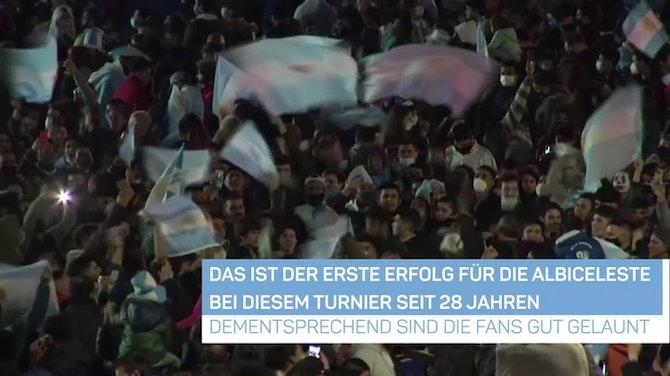 Vorschaubild für Argentinien-Fans feiern historischen Sieg