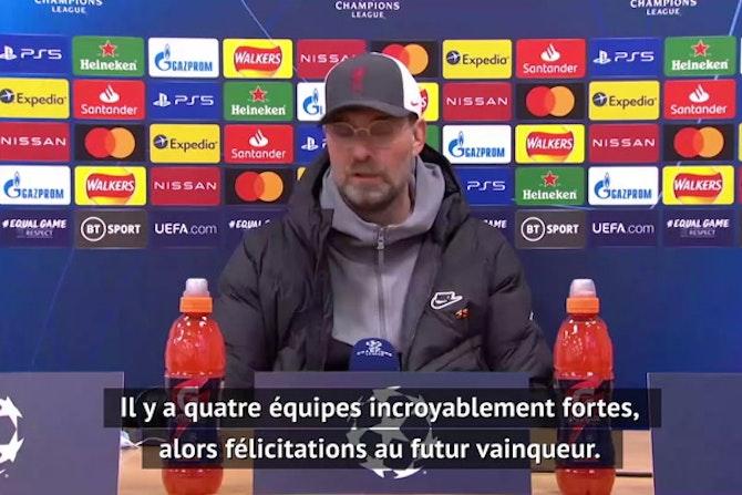 """Quarts - Klopp : """"Qui gagnera la C1 ? Honnêtement, je m'en fiche"""""""