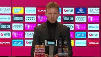 Vorschaubild für Nagelsmann über FCB-Bettwäsche und Systemfrage