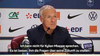 """Vorschaubild für Deschamps: """"Kann nicht für Mbappe sprechen"""""""