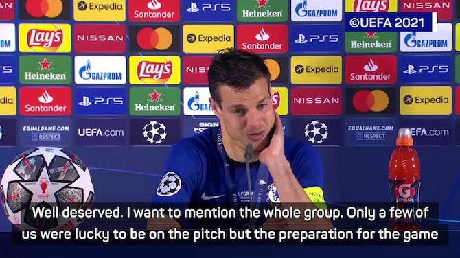 Preview image for Azpilicueta 'proud' to lift Champions League trophy as Chelsea captain