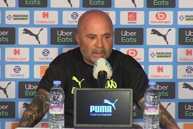 """Sampaoli, sobre las sustituciones de Álvaro: """"No hay jugadores que tengan consolidado un lugar en el equipo"""""""