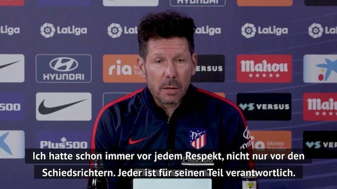 """Simeone: """"Fußball mit VAR fairer geworden"""""""
