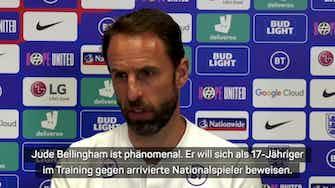 """Vorschaubild für Southgate über BVB-Juwel Bellingham: """"Phänomenal"""""""