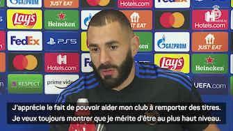 """Image d'aperçu pour Real Madrid - Benzema : """"Le Ballon d'Or est le rêve de chaque joueur"""""""