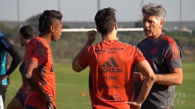 Preview image for Flamengo trains in Brasília ahead of Defensa y Justicia clash