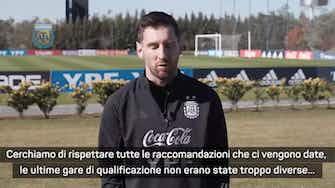 """Anteprima immagine per Messi sull'Argentina: """"Brutto momento, ci sono molti contagi"""""""