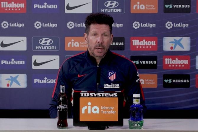 Simeone destaca la importancia de Saúl, Giménez y Koke