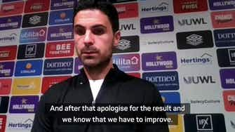 Preview image for Arteta looks to reassure Arsenal fans after disappointing defeat at Brentford