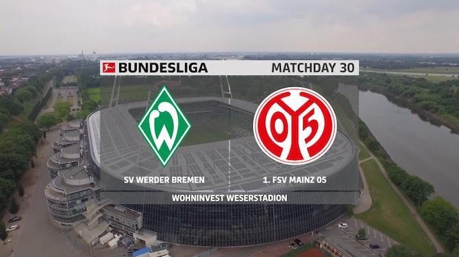 Lances da importante vitória do Mainz sobre o Werder Bremen pela Bundesliga