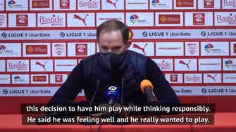 Preview image for Tuchel delighted with two-goal Mbappe as he rests Neymar for Nimes win