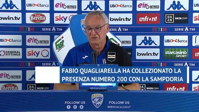 """Anteprima immagine per Ranieri: """"Ripartiamo con Quagliarella per il futuro"""""""