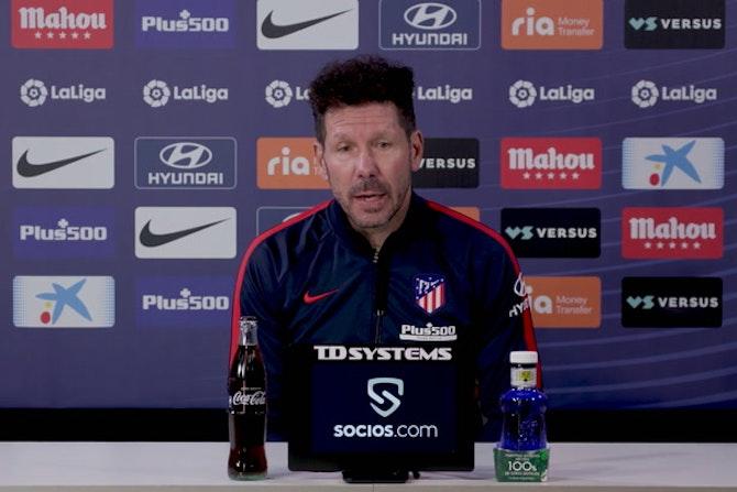 """Diego Simeone, en titulares: """"Con el VAR es más justo"""""""