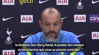 """Image d'aperçu pour 3e j. - Nuno Espirito Santo sur le feuilleton Harry Kane : """"On a été capable de gérer"""""""
