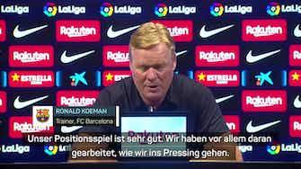 """Vorschaubild für Koeman über erste Halbzeit: """"Das beste Barca"""""""