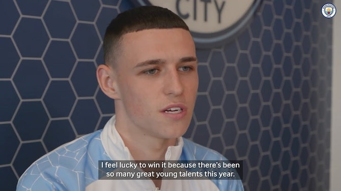 Foden on Young Player of the Year award and Euros
