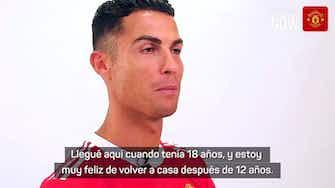 """Imagen de vista previa para Cristiano, en su primera entrevista con el United: """"Estoy feliz de volver a casa despues de 12 años"""""""