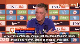 Preview image for Van Gaal declares Dutch self-confidence is like Max Verstappen's
