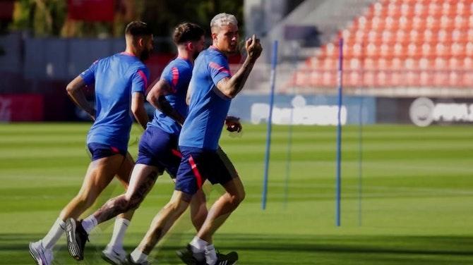Imagen de vista previa para De Paul y el Atleti siguen con su puesta a punto