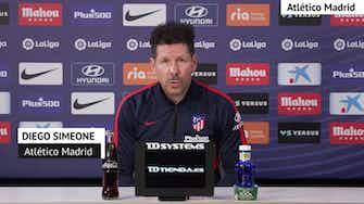 """Imagen de vista previa para Simeone, en titulares: """"Seguimos partido a partido"""""""