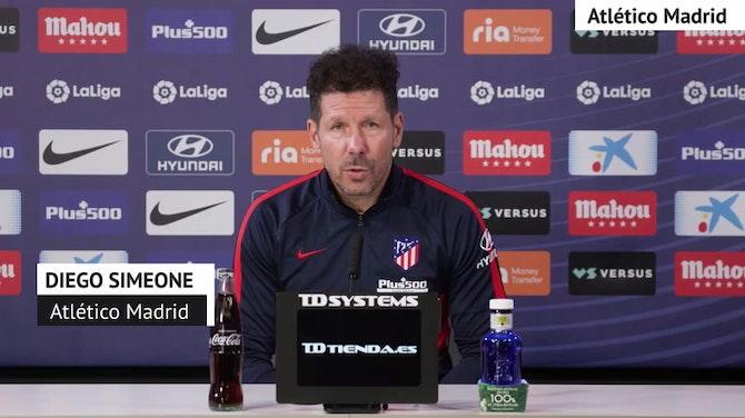 """Simeone, en titulares: """"Seguimos partido a partido"""""""