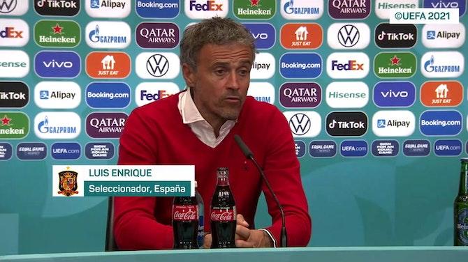 """Imagen de vista previa para Luis Enrique, en titulares: """"Para mí no es una noche triste"""""""