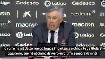 """Anteprima immagine per Ancelotti: """"Vinicius? Tre gol in due gare, giocatore importante. La fase difensiva però..."""""""