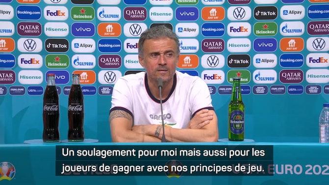 """Image d'aperçu pour Groupe E - Enrique : """"Il faut fêter ça et préparer le prochain match"""""""