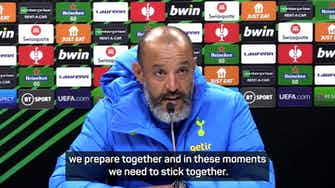 Preview image for 'Sticking together is the only way through' - Nuno on Spurs' bad form