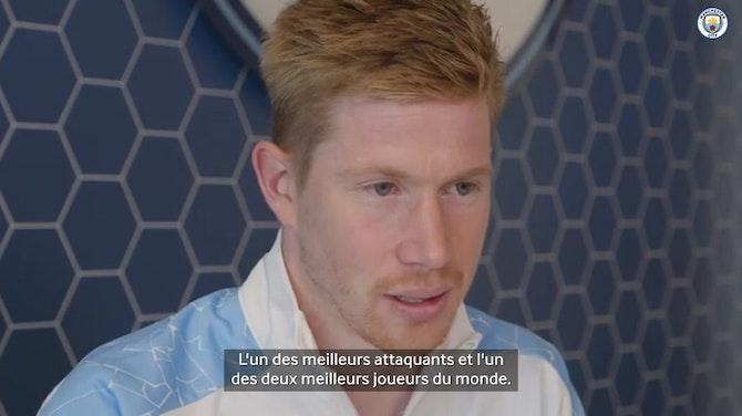 """Image d'aperçu pour De Bruyne : """"C'est fou"""" de suivre les traces d'Henry et Ronaldo"""