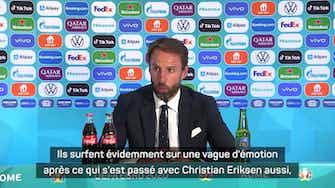 """Image d'aperçu pour Quarts - Southgate : """"Un match fantastique à jouer contre le Danemark"""""""