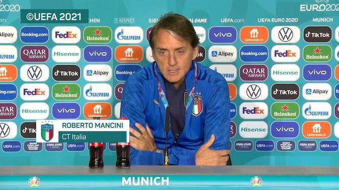 """Anteprima immagine per  Mancini: """"Rispettiamo il Belgio ma faremo la nostra partita"""""""