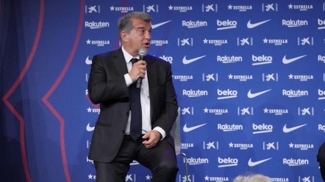 """Agüero, presentado en Barcelona: """"Le dije a mi agente que no hablase con otro club"""""""